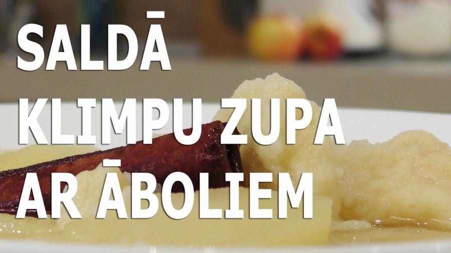 Saldā klimpu zupa ar āboliem